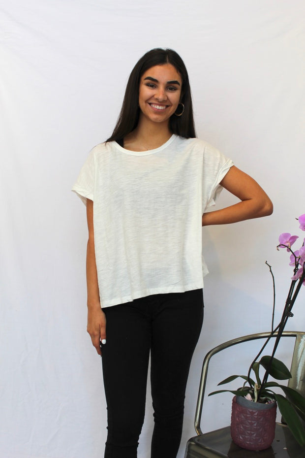 something beautiful top- ivory
