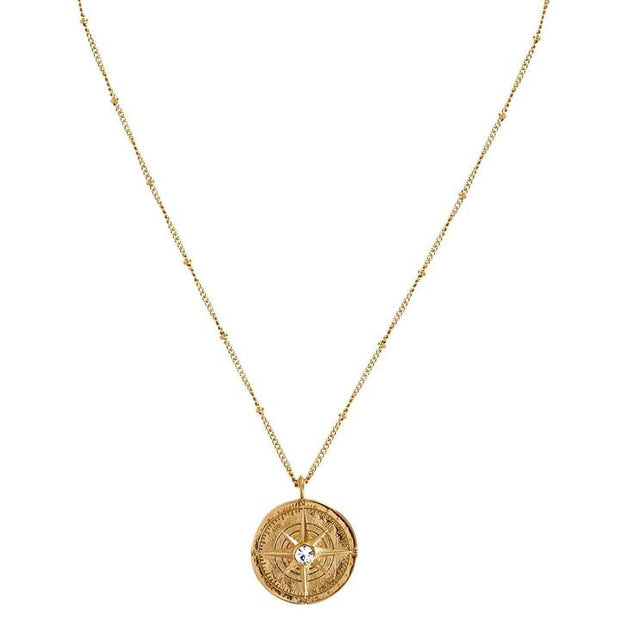 ellie vail: leo compass necklace - gold