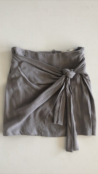 just for fun mini skirt - light grey