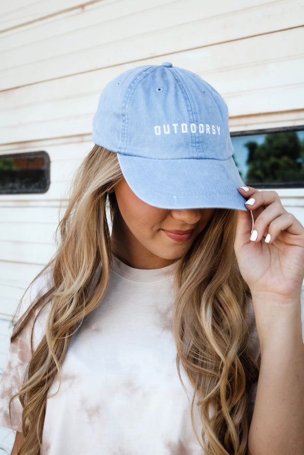 outdoorsy hat - blue