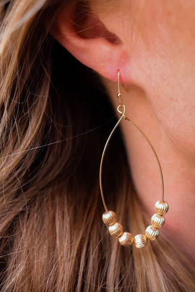 the penelope drop earring - gold