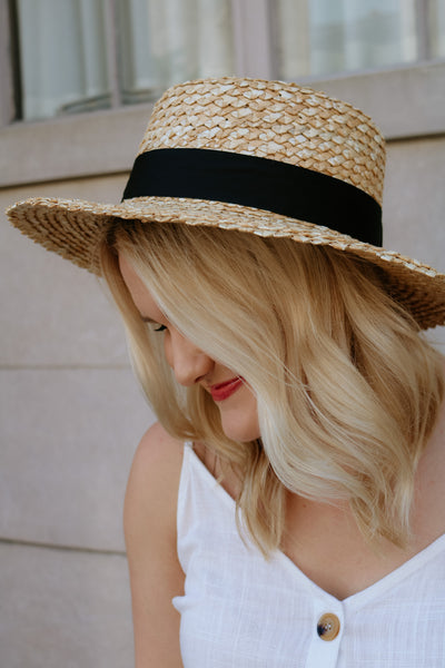 lack of color: rico straw boater - natural