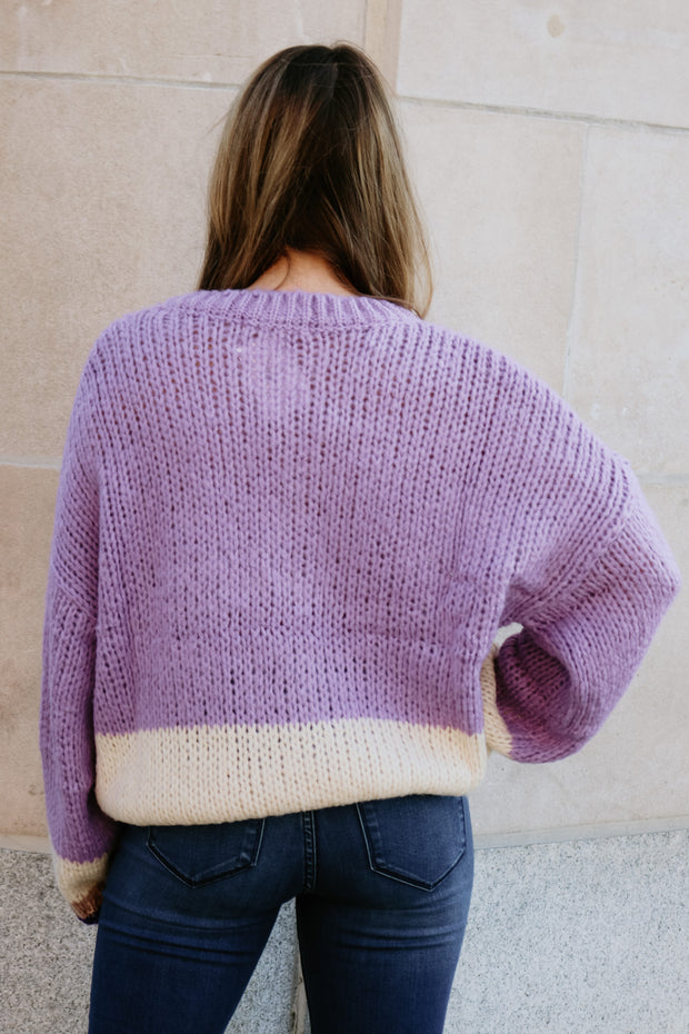 smooth move sweater - lavender