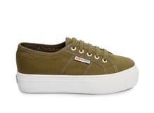 superga: military green platform
