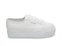 superga: white croco
