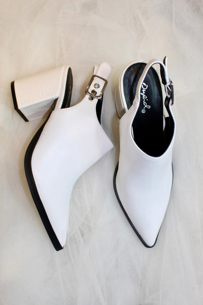 the planner bootie - white
