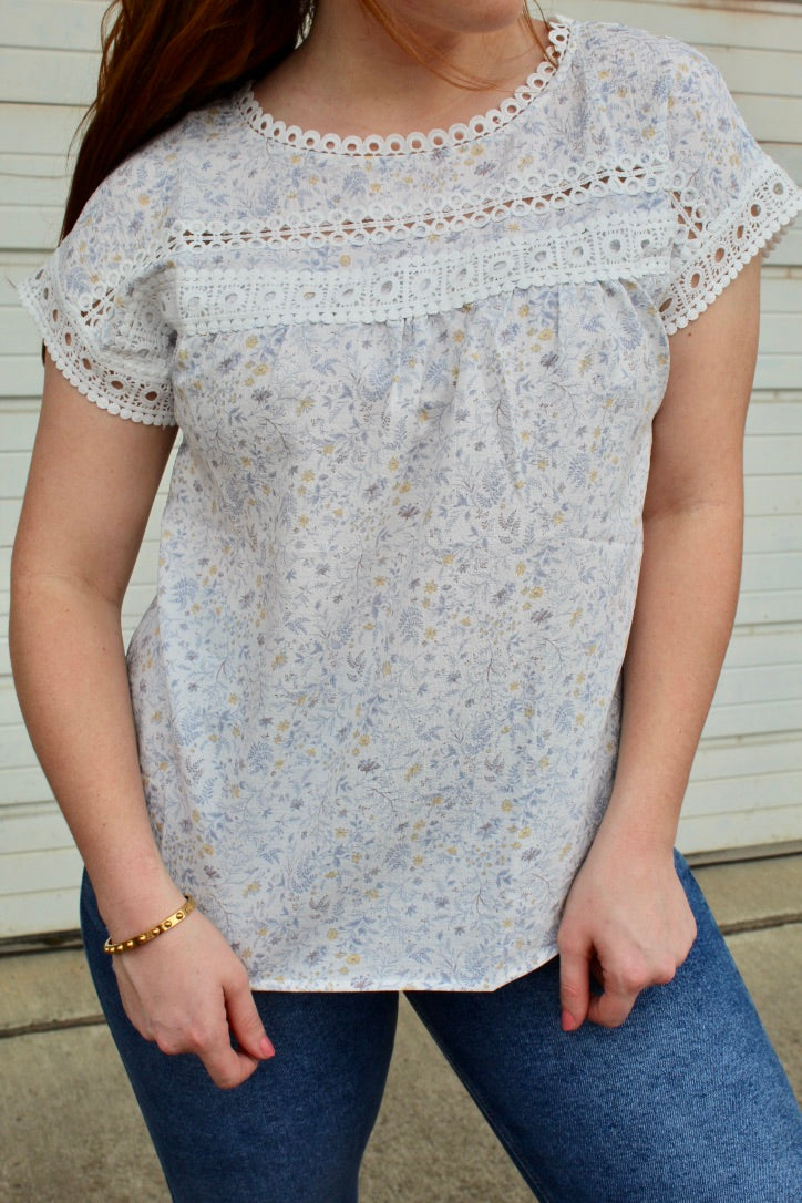sweet darling top- blue