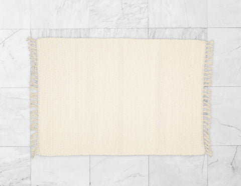Cotton Dhurrie Tabby Bathmat.