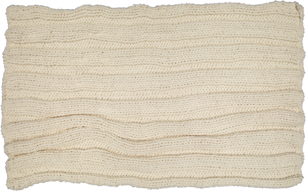 Hand Knitted Cotton Throw - Natural - Amelia Jackson Industries South Africa