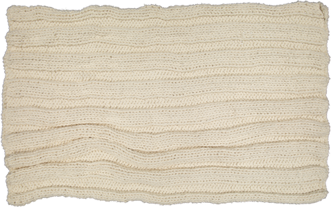 Hand Knitted cotton throw - Natural