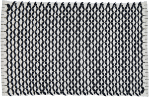 "Bathmat Lattice Weave White with a Navy or a Grey ""Lattice"" - Amelia Jackson Industries South Africa"