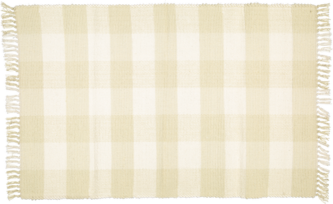 Dhurrie tabby Natural and Taupe checks