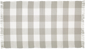 Dhurrie tabby Grey and white checks