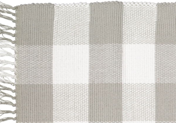 Dhurrie Tabby Grey and White Checks - Amelia Jackson Industries South Africa