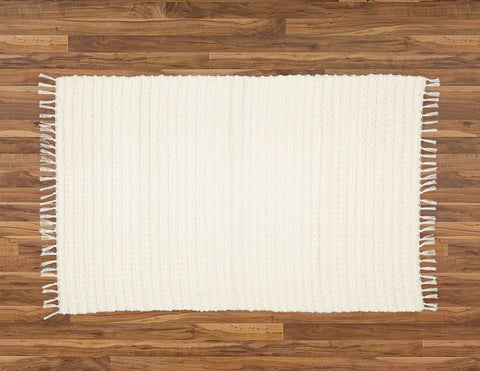 Dhurrie Waffle Weave, Natural - Amelia Jackson Industries South Africa