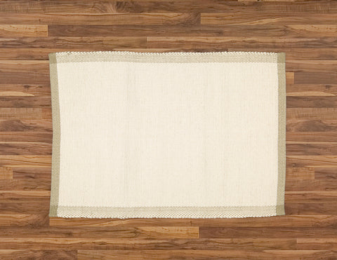 Bathmat Pebble Weave, Natural with a Jute Border - Amelia Jackson Industries South Africa