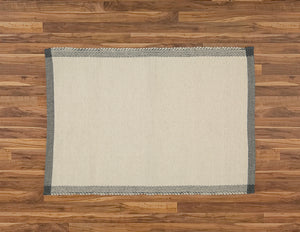 Bathmat Pebble Weave, Natural with a Charcoal Border - Amelia Jackson Industries South Africa