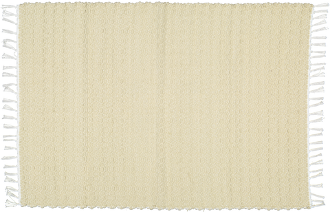 Hand woven cotton rugs in Taupe woven with a Twill pattern