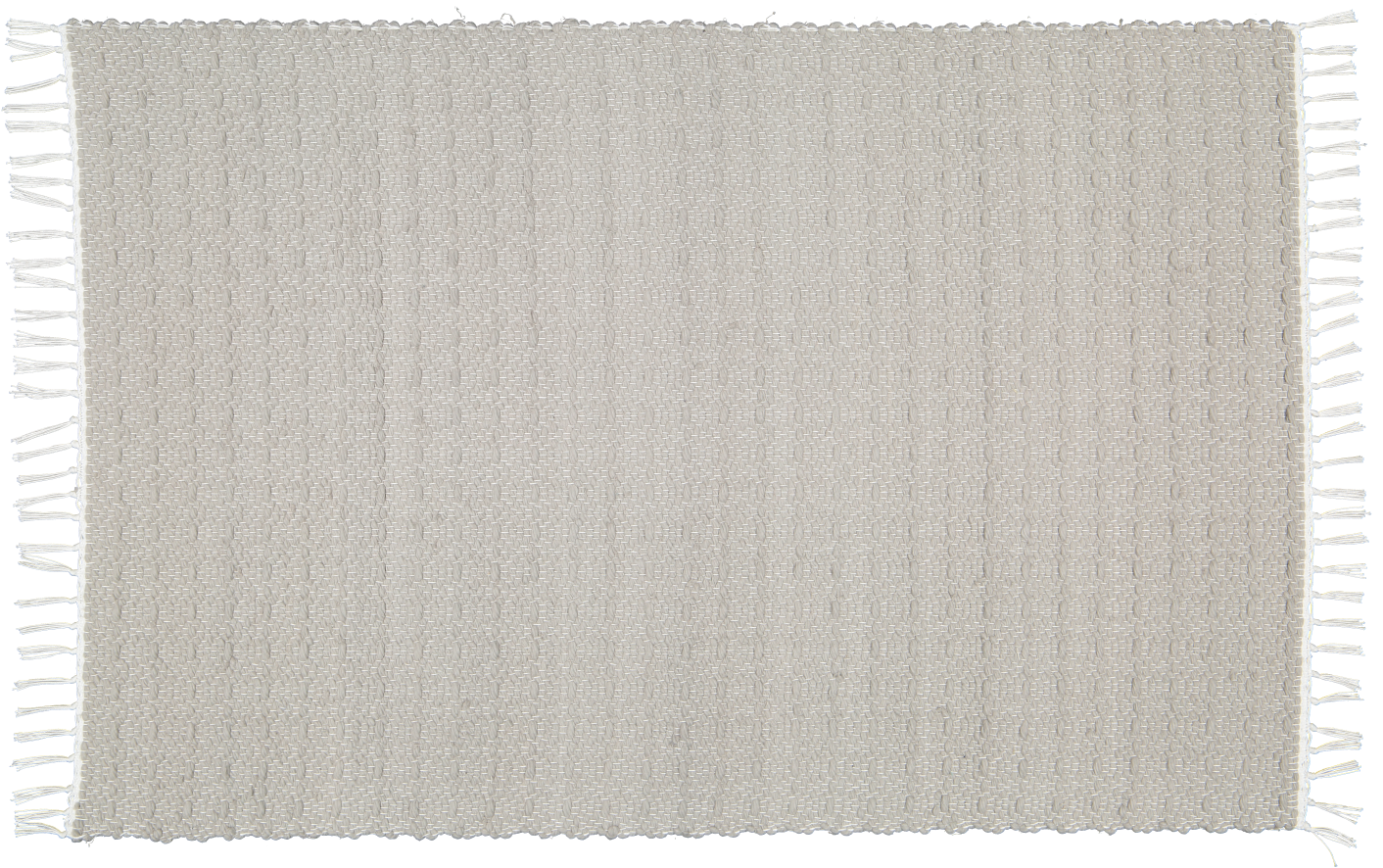 Hand woven cotton rugs in Light Grey woven with a Twill pattern