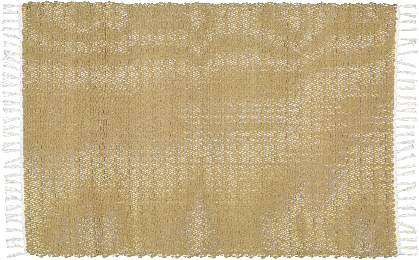 Cotton dhurrie twill weave in a Jute colour