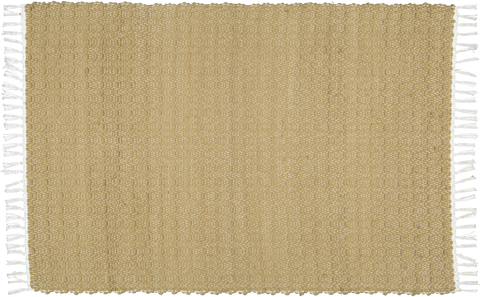 Hand woven cotton rugs in Jute woven with a Twill pattern