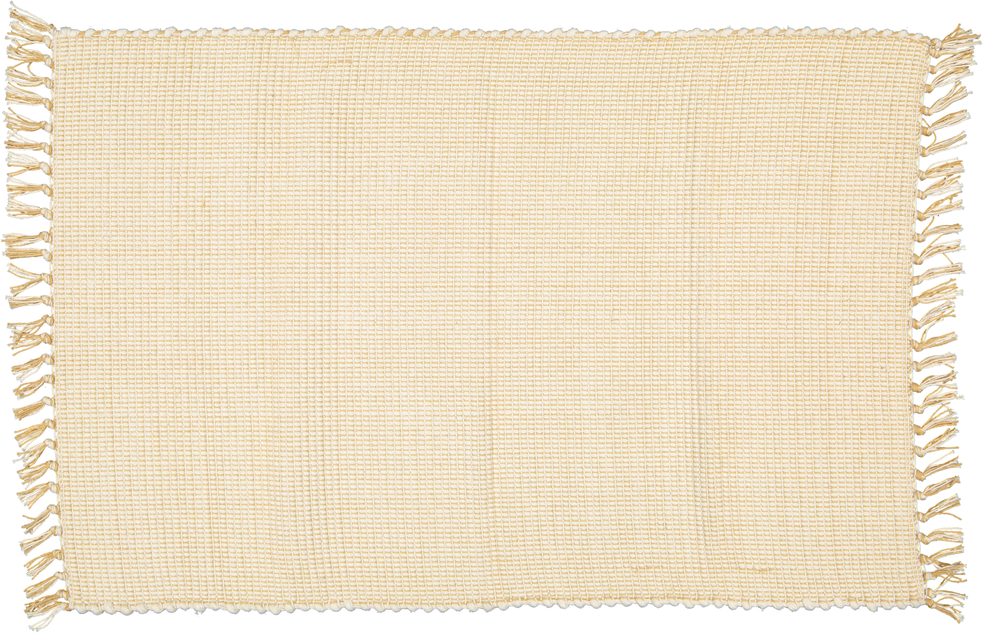 Dhurrie Dobby weave Natural with Hessian pinstripe