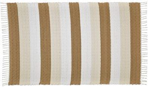 Dhurrie Twill Namib Dark stone, Natural and white