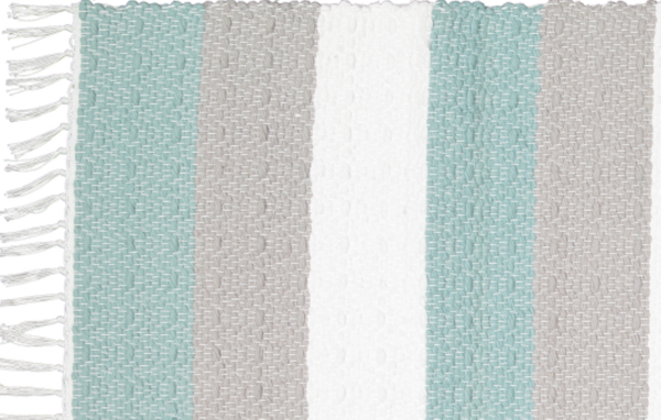 Dhurrie Twill Namib Duck Egg, Grey and White - Amelia Jackson Industries South Africa