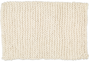 Chunky knit bathmat dhurrie natural