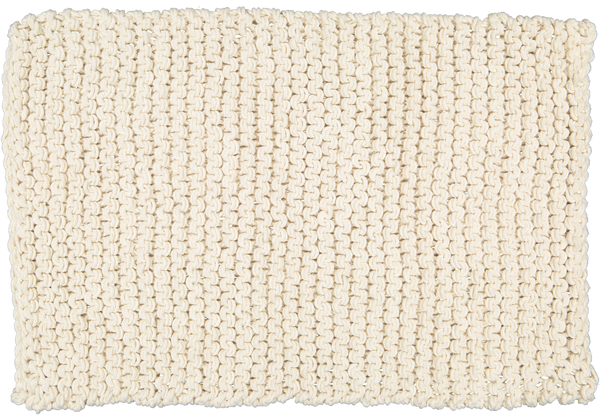 Chunky Knit Bathmat Dhurrie, Natural. - Amelia Jackson Industries South Africa