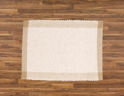 Placemat and Runners in Pebble Weave. Natural with Jute Border. - Amelia Jackson Industries South Africa