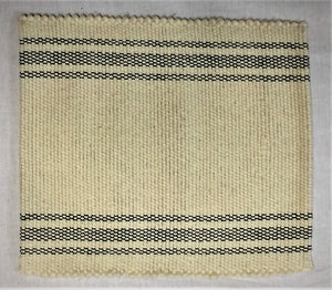 Placemat natural with charcoal stripes