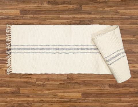 Table Runner, Natural with Navy Stripe - Amelia Jackson Industries South Africa