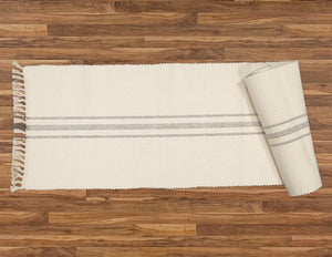 Table Runner, Natural with Charcoal Stripe - Amelia Jackson Industries South Africa