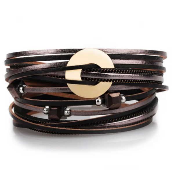 leather wrap magnetic bracelet