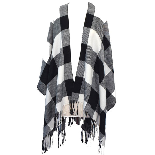 Black & White Check Cape