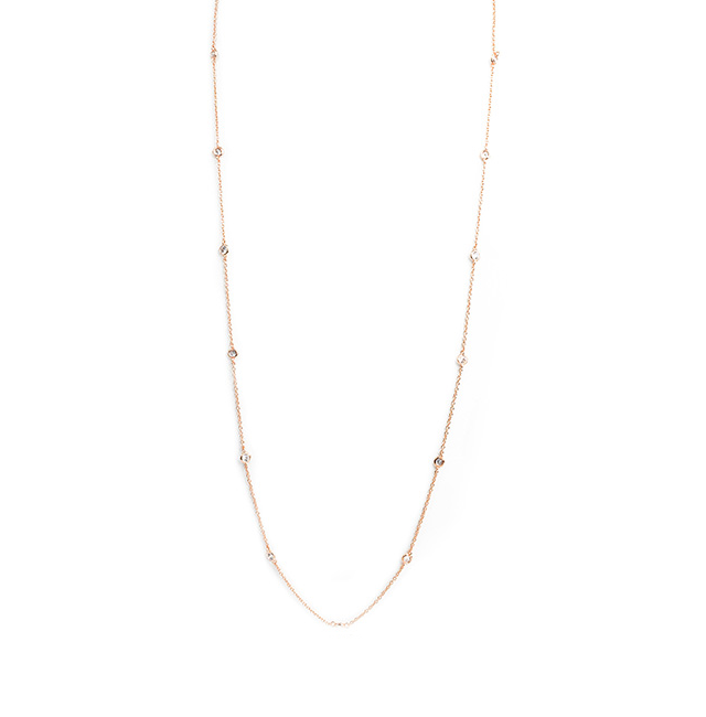 diamond by the yard cz necklace