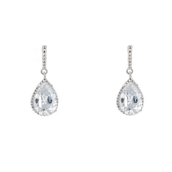 Silver Cubic Zirconia Dangle Earrings