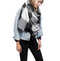 Two Tone Check Oblong Scarf with Fringe