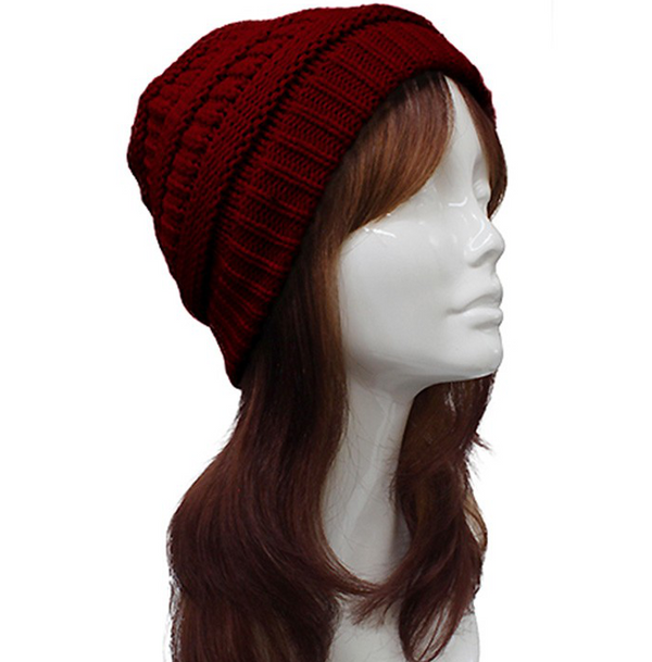Cable Knit Pattern Beanie