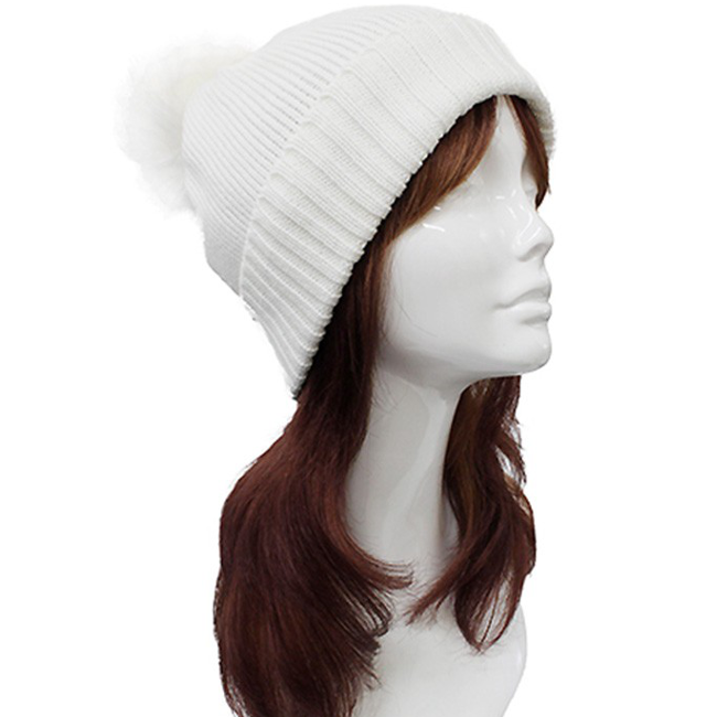 Stripe Pattern Knit Beanie