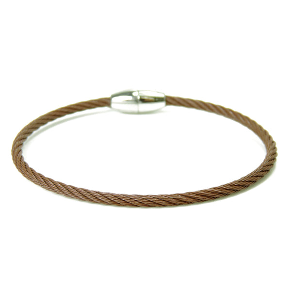 Brown Twisted Cable Magnetic Bracelet