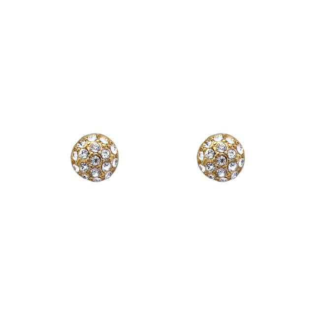 Gold Crystal Studded Post Earring