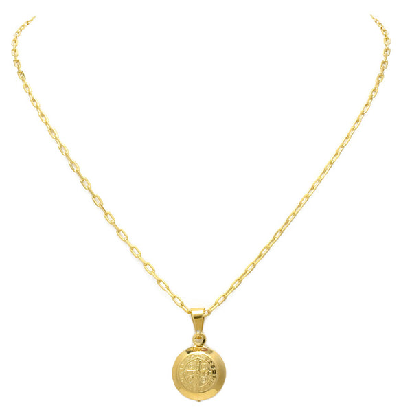 Gold Filled Coin Pendant Necklace