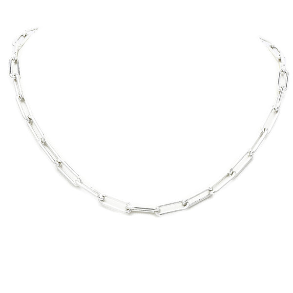 "18"" Silver Linked Chain Necklace"