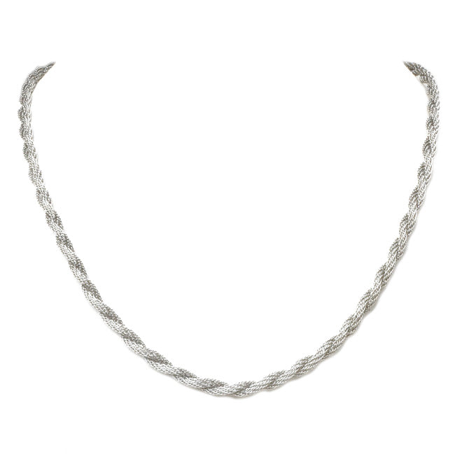 Silver Rope Style Necklace