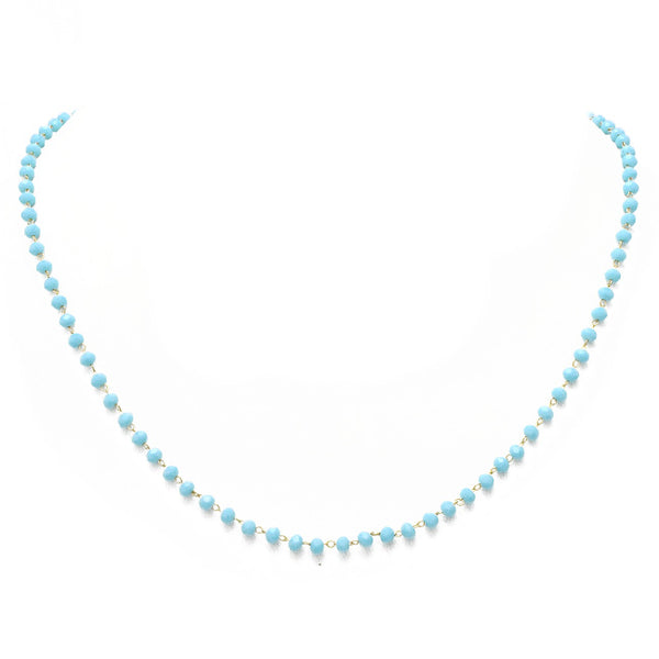 Blue Crystal Beaded Necklace