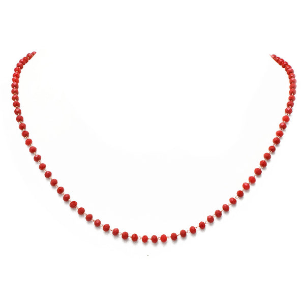 Red Crystal Beaded Necklace