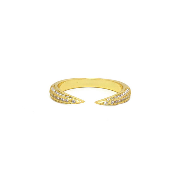 Gold Plated Cubic Zirconia Adjustable Ring
