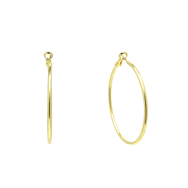 Shiny Gold Hoop Earring